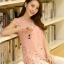 เสื้อตัวยาวแฟชั่นเกาหลี แต่งแบบ 2 ชั้น พิมพ์ลายตามภาพ ชั้นนิกบุลายดอกไม้สวยเก๋ สำเนา thumbnail 4