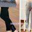 กางเกงเลคกิ้งคลุมท้อง ขายาว : ขอบย่นประดับมุก รหัส PN112 thumbnail 2