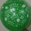 """ลูกโป่งกลมพิมพ์ลาย Happy Birth Day คละสี แบบที่ 3 ไซส์ 12 นิ้ว จำนวน 10 ใบ (Round Balloons 12"""" - Happy Birth Day Design no. 3 latex balloons) thumbnail 2"""