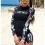 ชุดว่ายน้ำแขนยาว โทนสีดำ ลายสวย Love_XOXO thumbnail 4