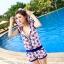 PRE ชุดว่ายน้ำคู่รัก บิกินี่ ลายสวย พร้อมชุดคลุมเอี๊ยม มีฮู้ด thumbnail 12