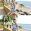 พร้อมส่ง ชุดว่ายน้ำวันพีซผ้าลายน่ารักๆ ทรงเกาะอก แต่งระบายเก๋ๆ thumbnail 7