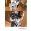 เสื้อแฟชั่นเกาหลี เย็บแต่งด้วยลายรูปไม้ ตัวเสื้อใส่โชว์ไหล่ได้ แขนจั๊ม สีพื้นขาว thumbnail 5