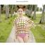 PRE ชุดว่ายน้ำบิกินี่ บรามีโครง สายคล้องคอ กางเกงบิกินี่ พร้อมเสื้อคลุมลายสวยเก๋ thumbnail 2