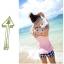 พร้อมส่ง ชุดว่ายน้ำ Tankini เสื้อชมพู ดีไซน์เก๋ กางเกงขาสั้นลายสก๊อตขาวดำสวยๆ thumbnail 3