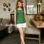 เสื้อคลุมท้องแขนกุด มีกระดุมปรับขนาด : สีเขียว รหัส SH165 thumbnail 2