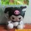 ตุ๊กตาอัดเสียง คุโรมิ ( Kuromi ) สินค้ามาใหม่ (ซื้อ 3 ชิ้น ราคาส่ง 300 บาท) thumbnail 1