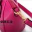 กระเป๋าแฟชั่นเกาหลี แบรนด์ Axixi หนัง PU เงา สีชมพูบานเย็น thumbnail 6