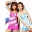 พร้อมส่ง ชุดว่ายน้ำ Tankini สายเสื้อกล้าม ลายขวางสีสวย แต่งโบว์ใหญ่ที่อกน่ารักมาก thumbnail 5
