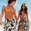 พร้อมส่ง ชุดว่ายน้ำคู่รัก ชุดว่ายน้ำบิกินี่ทูพีซ ลายดอกไม้สีขาวดำ พร้อมผ้าคลุมสวยๆ thumbnail 1