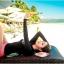 ชุดว่ายน้ำแขนยาวสีดำสกรีนลาย บิกินี่สีชมพู thumbnail 2