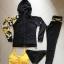 ชุดว่ายน้ำแขนยาวขายาว เซ็ต 4 ชิ้น สีดำตัดขอบลายเหลืองสวยๆ yellow-black soldier thumbnail 8