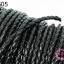 เชือกหนังถัก สีดำ ขนาด 6 มิล (1หลา/90ซม) thumbnail 1