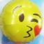 ลูกโป่งฟลอย์กลมสีเหลือง พิมพ์ลายหน้ายิ้ม (จุ๊บ) TL-A141 ไซส์ 18 นิ้ว/Item No.TL-A141 thumbnail 2