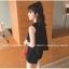 ชุดแฟชั่นเกาหลี เสื้อ+กางเกง ทรงสวยตามภาพ สีดำ thumbnail 4