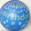 """ลูกโป่งจัมโบ้ สีน้ำเงินพิมพ์ลาย Happy Birthday ขนาด 24 นิ้ว - Round Jumbo Balloon Blue printing HBD 24"""" thumbnail 2"""