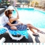 PRE ชุดว่ายน้ำคู่รัก ชุดว่ายน้ำบิกินี่ ลายโบฮีเมียนสีกรมท่า สายคล้องคอ พร้อมชุดคลุมลายสวย thumbnail 9