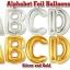 """ลูกโป่งฟลอย์รูปตัวอักษร C สีทอง ไซส์จัมโบ้ 40 นิ้ว - C Letter Shape Foil Balloon Size 40"""" Gold Color thumbnail 9"""