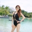 ชุดว่ายน้ำวันพีชสีดำ ร่องอกซีทรูเซ็กซี่ หลังเว้าลึก thumbnail 4