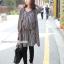 ชุดคลุมท้องผ้าชีฟองแขนยาว เสื้อด้านในลายยาวติดกับชุดนอก : สีน้ำตาล รหัส CK207 thumbnail 13