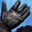 ถุงมือมอเตอร์ไซค์เต็มมือ หนังแท้สีดำ สนับรอบ thumbnail 2
