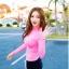 พร้อมส่ง ชุดว่ายน้ำแขนยาว เสื้อสีชมพูสวยๆ กางเกงขาสั้นสีดำ thumbnail 1