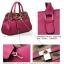 กระเป๋าหนัง pu เกรด A แบรนด์ OPPO สีชมพูอมม่วงลายลีโอ ทรงแอร์เมท(รับประกันของแท้ เหมือนแบบ 100%) thumbnail 2