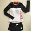 พร้อมส่ง ชุดว่ายน้ำแขนยาว ลำตัวสีขาวตัดแขนสีดำ ขอบคอเสื้อสีส้ม กางเกงขาสั้น thumbnail 8