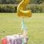 """ลูกโป่งฟอยล์รูปตัวเลข 2 สีทอง ไซส์จัมโบ้ 40 นิ้ว - Number 2 Shape Foil Balloon Size 40"""" Gold Color thumbnail 1"""