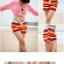 PRE กางเกงขาสั้นคู่รัก Couple beach pant ลายทางสลับสีรุ้งสวย thumbnail 3