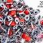 หมุดติดเสื้อ กลม สีแดง 6มิล(100ชิ้น) thumbnail 1