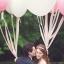 """ลูกโป่งจัมโบ้ สีขาว ขนาด 24 นิ้ว - Round Jumbo Balloon White color 24"""" thumbnail 2"""