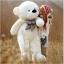 ตุ๊กตาหมียิ้ม สีขาว ขนาด 1.8 เมตร thumbnail 1