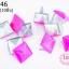 เป็กติดเสื้อ ทรงสี่เหลี่ยม สีชมพู 12 มิล(10ชิ้น) thumbnail 1