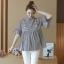 K114221 เสื้อคลุมท้องแฟชั่นเกาหลี โทนสีดำสลับ thumbnail 5