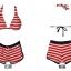 พร้อมส่ง ชุดว่ายน้ำทูพีซ สไตล์สปอร์ตกางเกงขาสั้น ลายเส้นสีแดงสลับขาวสวยๆ thumbnail 6