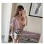 เสื้อแฟชั่นเกาหลี แขน 2 ส่วนแต่งระบายใหญ่ สวยเก๋ สีชมพูอ่อน + สร้อยคอ thumbnail 5