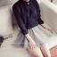 เสื้อแฟชั่นเกาหลี ทรงคอจีนติดกระดุมข้าง แขนยาว เสื้อทรงสุภาพ สีดำ thumbnail 4