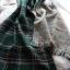 ผ้าพันคอขนสัตว์ แต่งลายสก๊อตสีเขียว thumbnail 3