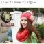 หมวกไหมพรมแฟชั่นเกาหลีพร้อมส่ง ทรงดีไซต์เก๋ ลายโบว์ลูกใหญ่ มีจุก สีแดง thumbnail 2