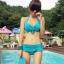 พร้อมส่ง ชุดว่ายน้ำทูพีชสีฟ้า บราแต่งโบว์ที่อก สายคล้องคอ กางเกงกระโปรงแต่งปลายระบายน่ารักๆ thumbnail 1
