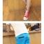 กางเกงคู่รัก ชาย + หญิงกางเกงขาสั้น แบบรูดซิบ ลายสีเรียบ สีฟ้า +พร้อมส่ง+ thumbnail 8