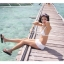พร้อมส่ง ชุดว่ายน้ำบิกินี่ทูพีช สายคล้องคอ กางเกงแต่งระบายสวยๆ thumbnail 12