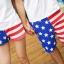 กางเกงคู่รัก ชาย + หญิงกางเกงขาสั้น ลายธงชาติเมกา +พร้อมส่ง+ thumbnail 2