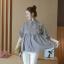 K114221 เสื้อคลุมท้องแฟชั่นเกาหลี โทนสีดำสลับ thumbnail 6