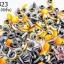 หมุดติดเสื้อ กลม สีส้ม 6มิล(100ชิ้น) thumbnail 1