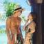 PRE ชุดว่ายน้ำคู่รัก หญิงวันพีซโมโนกินี่พิมพ์ลายสวย ชายกางเกงขาสั้นลายเดียวกัน thumbnail 1