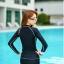 พร้อมส่ง ชุดว่ายน้ำแขนยาวซิปหน้า กางเกงขาสั้น สีดำแต่งขอบขาว ลุคสปอร์ตเท่ห์ๆ thumbnail 7