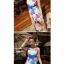 พร้อมส่ง ชุดว่ายน้ำวันพีซ สายเสื้อกล้าม ลายดอกไม้หลากสี ตัดต่อสายคาดใต้อกแต่งโบว์ สวยมากๆ thumbnail 4
