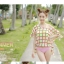 PRE ชุดว่ายน้ำบิกินี่ บรามีโครง สายคล้องคอ กางเกงบิกินี่ พร้อมเสื้อคลุมลายสวยเก๋ thumbnail 4